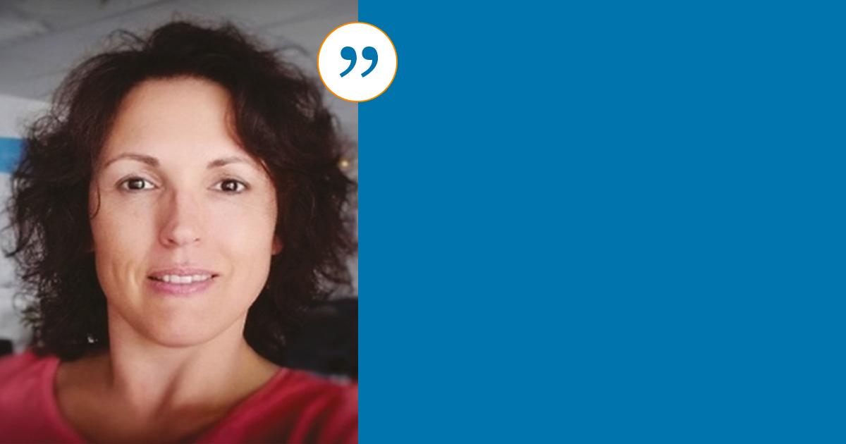 Photo portrait de Mathilde Martinez qui temoigne sur le bilan de competences de BGE Sud-Ouest